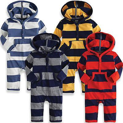 "NWT Vaenait Baby Newborn Baby Girl Boy's Hoodie One-Piece "" Long Hoodie Stripe """