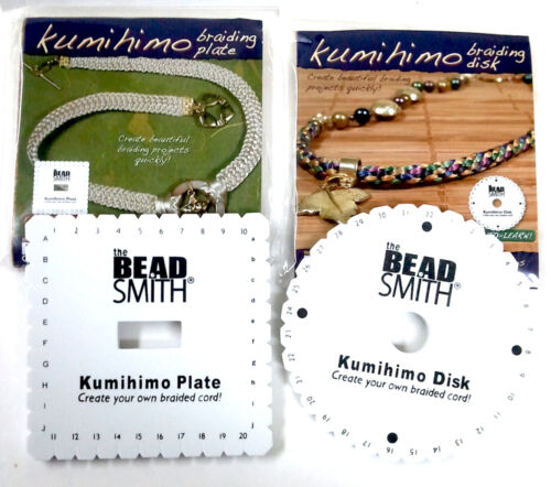 "Kumihimo Braiding Cord 6"" Disk 1 Round 1 Square 8 Bobbins  Instruction"