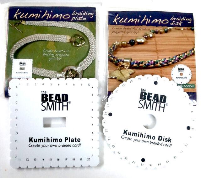"Kumihimo Braiding Cord 6"" Disk 1 Round 1 Square 8 Bobbins  Instruction"