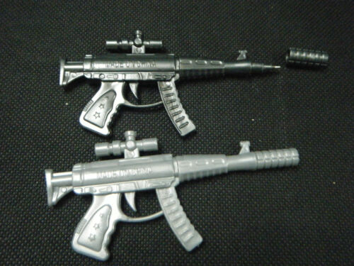 KIDS BOYS COLLECTORS NOVELTY PACK OF 2 MACHINE GUN BALL POINT PEN PARTY BAG UK