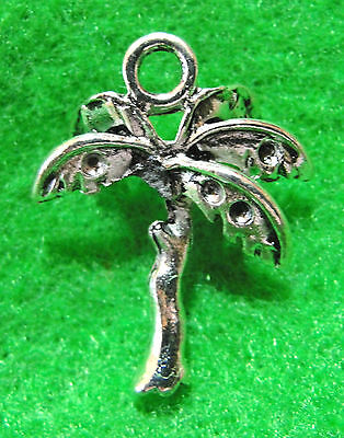 10 Antique Silver 3D PALM TREE Charms Pendants Drops Tibetan Jewelry Finding L31