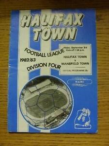 03091982 Halifax Town v Mansfield Town  Creased Folded Item In very good c - Birmingham, United Kingdom - 03091982 Halifax Town v Mansfield Town  Creased Folded Item In very good c - Birmingham, United Kingdom