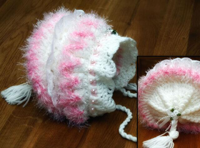 Laminated Ziggy Baby Bonnet Crochet Pattern - Premature to 3 months Beautiful