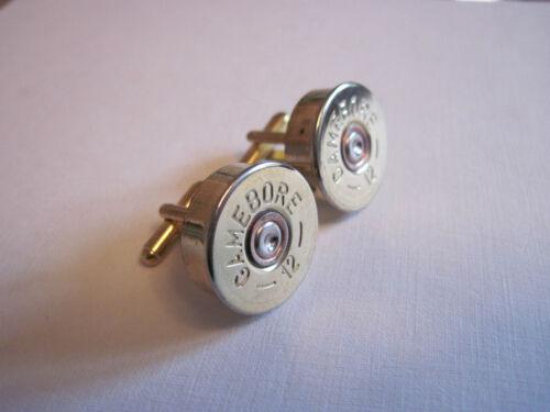 shotgun shell cartridge cap cufflinks clay pigeon shooting WEDDING Best man gift