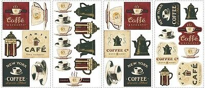 31 New COFFEE HOUSE WALL DECALS Kitchen Stickers Cafe Removable Easy Decorations