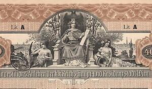 AUSTRIA-CITY-OF-VIENNA-4-BOND-stock-certificate-1902-400-CROWNS