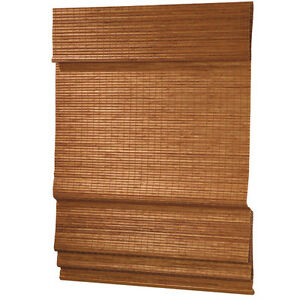 NIB-Bamboo-Roman-Privacy-Shade-Blinds-Different-Sizes-and-Colors-24x72-to-72x72