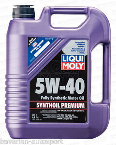 liqui moly motor oil premium synthetic 5 liters 5w40. Black Bedroom Furniture Sets. Home Design Ideas