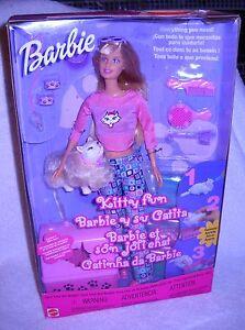 #4743 NRFB Mattel Kitty Fun Barbie Foreign Box Barbie Y Su Gatita
