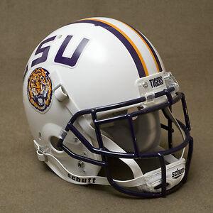 LSU TIGERS (WHITE) Authentic GAMEDAY Football Helmet ...