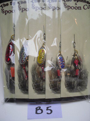 5x Beatle Spinnex Fishing Lures, Trout, Pike, Perch, Chub, Herring, Mepps