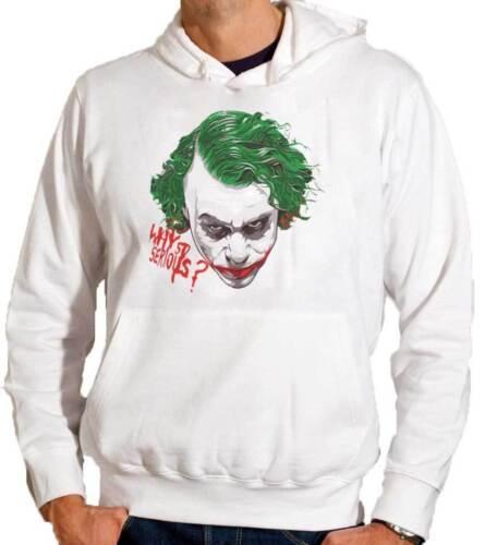 film Batman con stampa personalizzata why so serious Felpa con cappuccio Joker