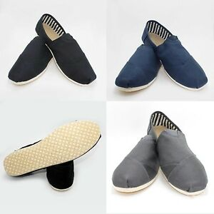 NEW-MENS-CANVAS-FLAT-SHOES-SLIP-ON-SLIPPER-FASHIONABLE-COMFORT