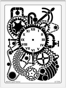 Dreamweaver-Steampunk-Clock-Background-Stencil-LX7018