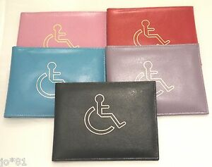 Real-Leather-Disability-Disabled-Badge-Holder-Wallet