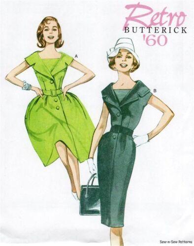 Butterick B5747 SEWING PATTERN 8-16 Wo-men Vintage Retro Mad 60s Dress Swing