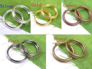 4MM-5MM-6MM-7MM-8MM-10MM-12MM-Double-Loop-Split-Jump-Rings-Jewelry-Make-Findings