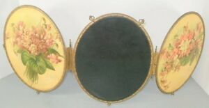 Victorian-1880s-3-Way-Beveled-Mirror-Paul-de-Longpre-Oval-Celluoid-Print