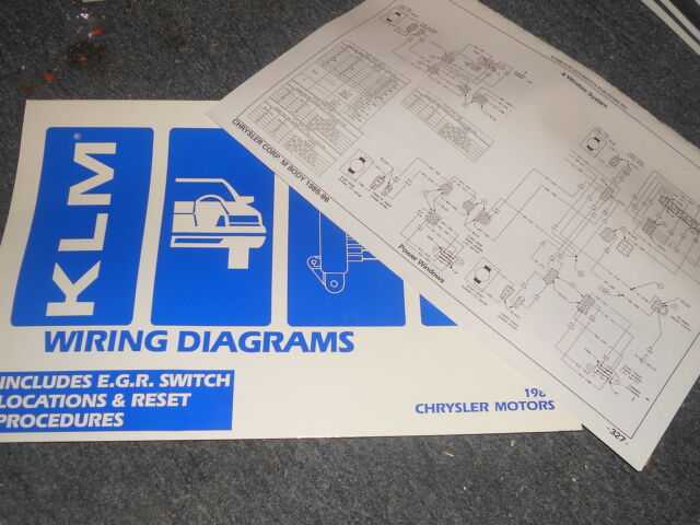 1987 Dodge Shadow Plymouth Sundance Duster Wiring Diagrams Schematics Sheets Set