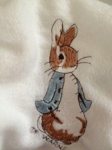 Personnalisé polaire bébé couverture avec peter rabbit facultatif contraste bordure