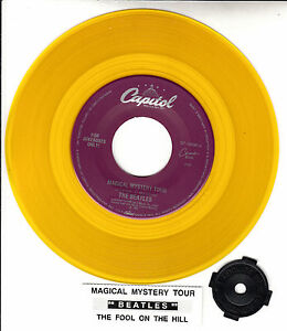 BEATLES-Magical-Mystery-Tour-amp-The-Fool-On-The-Hill-YELLOW-VINYL-7-034-45-rpm-NEW
