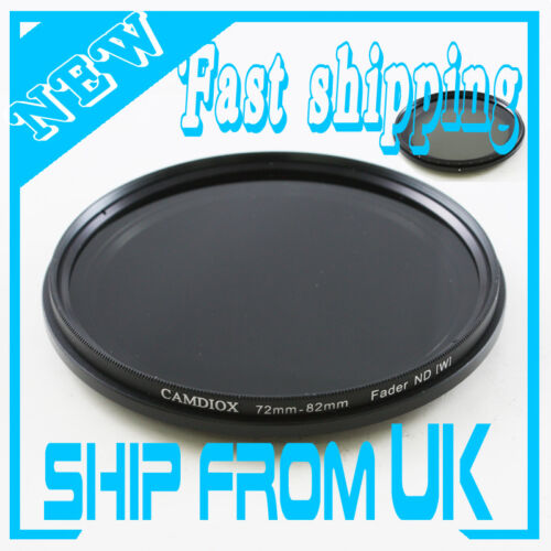Fader Neutral Density ND Filter 72mm ND 2 4 8 16 32 ND2 to ND400 for Canon Nikon