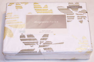 Designer-Choice-Embroidered-Dulcie-Natural-King-Bed-Quilt-Cover-Set-New