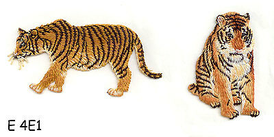 2PC ~TIGER SET~IRON ON EMBROIDERY APPLIQUE