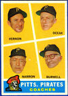 1960 Topps Pirates Coaches #467 Baseball Card
