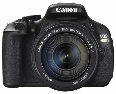 Canon EOS 600D Kit mit EF-S IS  18 - 135 mm Objektiv + 18 MP Digitalkamera #TOP