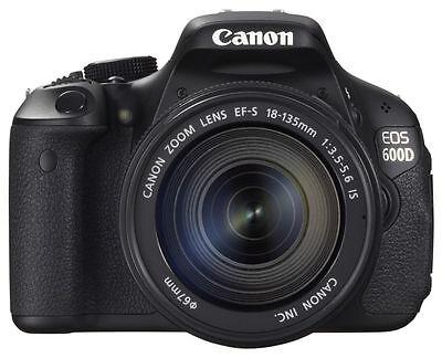 Canon EOS 600D Kit mit EF-S IS  18 - 135 mm Objektiv + 18 MP Digitalkamera #TOP
