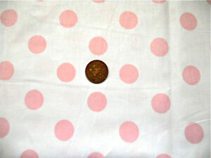 WHITE-WITH-22MM-PALE-PINK-SPOTS-COTTON-FABRIC-BY-THE-METRE