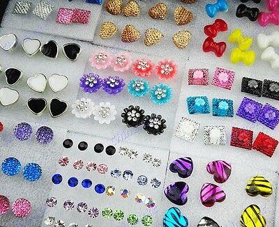 112pcs wholesale jewelry lots Resin Rhinestones mixed fashion Earrings Studs NEW