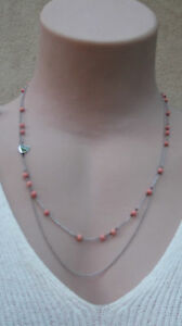 MIMCO-MIM-Precious-Travellers-Fine-Neck-Sterli-Silver-Pink-Coral-BNWT-rrp-149