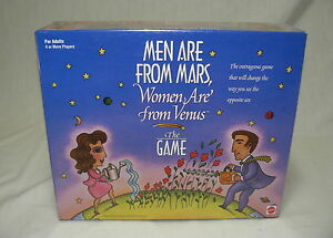 ORIGINAL MEN ARE FROM MARS WOMEN FROM VENUS BOARD GAME NEW MINT