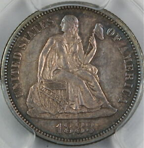 1883-Seated-Liberty-Silver-Dime-PCGS-MS-63-Very-Choice-Toned
