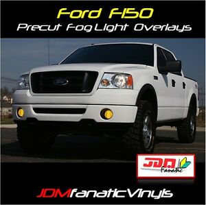 s l300 06 08 f150 fog light euro yellow overlays tint kit film ebay 1984 F150 Wiring Diagram at eliteediting.co