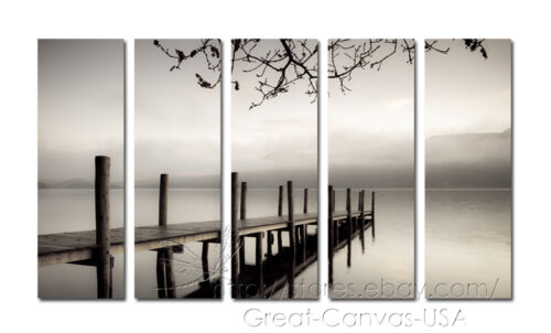 Tranquil Lake On Quality Canvas Art Prints Huge Size 150x90cm STRETCHED & FRAMED