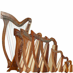 Rosewood-Harp-With-Case-and-Learning-Book-Lever-Harp-Irish-Harp-Celtic-Harp