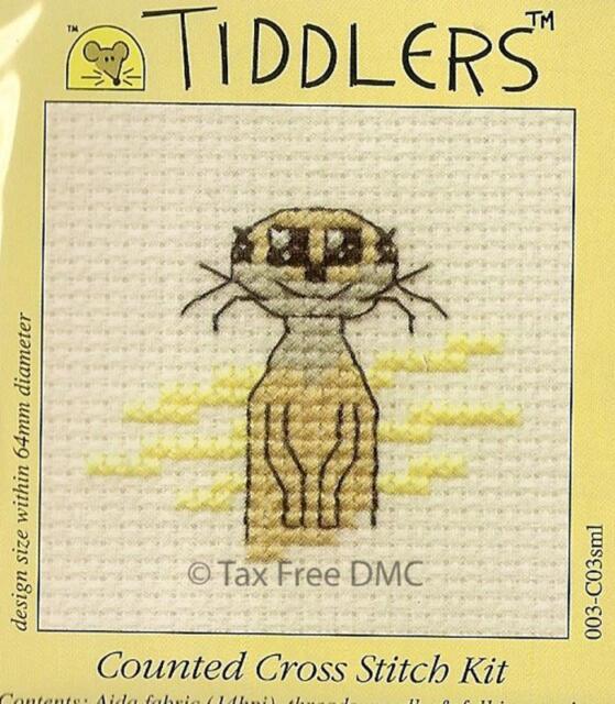 VAT Free Tiddler Meerkat Counted Cross Stitch Kit From Mouseloft New