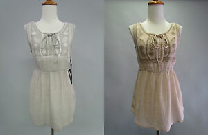 NWT-TAUPE-Heather-Gray-Emberoider-Crochet-Back-Peplum-IndiePrintYoke-Bib-Top-SML