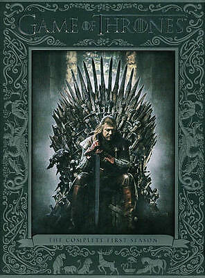 Game of Thrones: The Complete First Season (DVD, 2012, 5-Disc Set) NEW