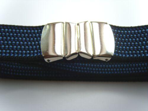 3cm breit schwarz Stretchgürtel Elastikgürtel mit Schnellverschluß