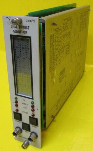Bently Nevada 3300//20 Dual Thrust Monitor 30-0-30 mils 4-20mA PLC Bentley 330020