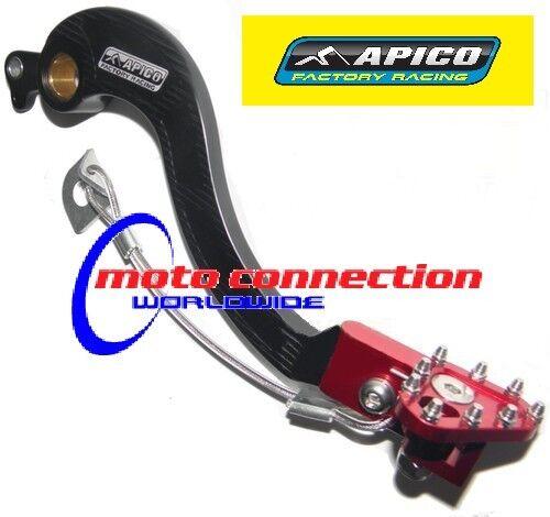 Apico REAR BRAKE PEDAL  Black / Red Honda CRF250X CRF450X ENDURO 05-13  BPF123
