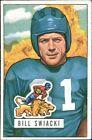 1951 Bowman Bill Swiacki Detroit Lions #132 Football Card