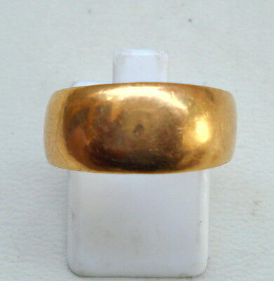 22kt gold ring plain band ring handmade gold jewellery