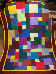 New Handmade Patchwork Quilt Quilted Throw Baby Quilt