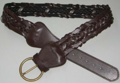 B209//10 fashioable Woven Plaited PU Leather style belt for ladies