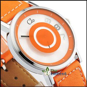 NEW-Leather-Japan-Movement-Date-Fashion-Quartz-Men-EYKI-Spin-Wrist-Watch-4-Color